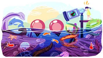 Doodle 4 Google Canada 2014 - Sea Telescope by Cindy Tang : Canada
