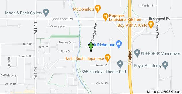 Map of 12800 Bathgate Way, Unit 8, Richmond, BC V6V 1Z4