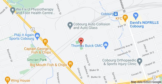 Map of 206 Furnace St, Cobourg, ON K9A 2G1