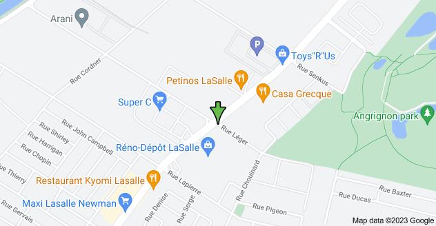 Map of 2170 Rue Léger, Montréal, QC H8N 1X2, Canada