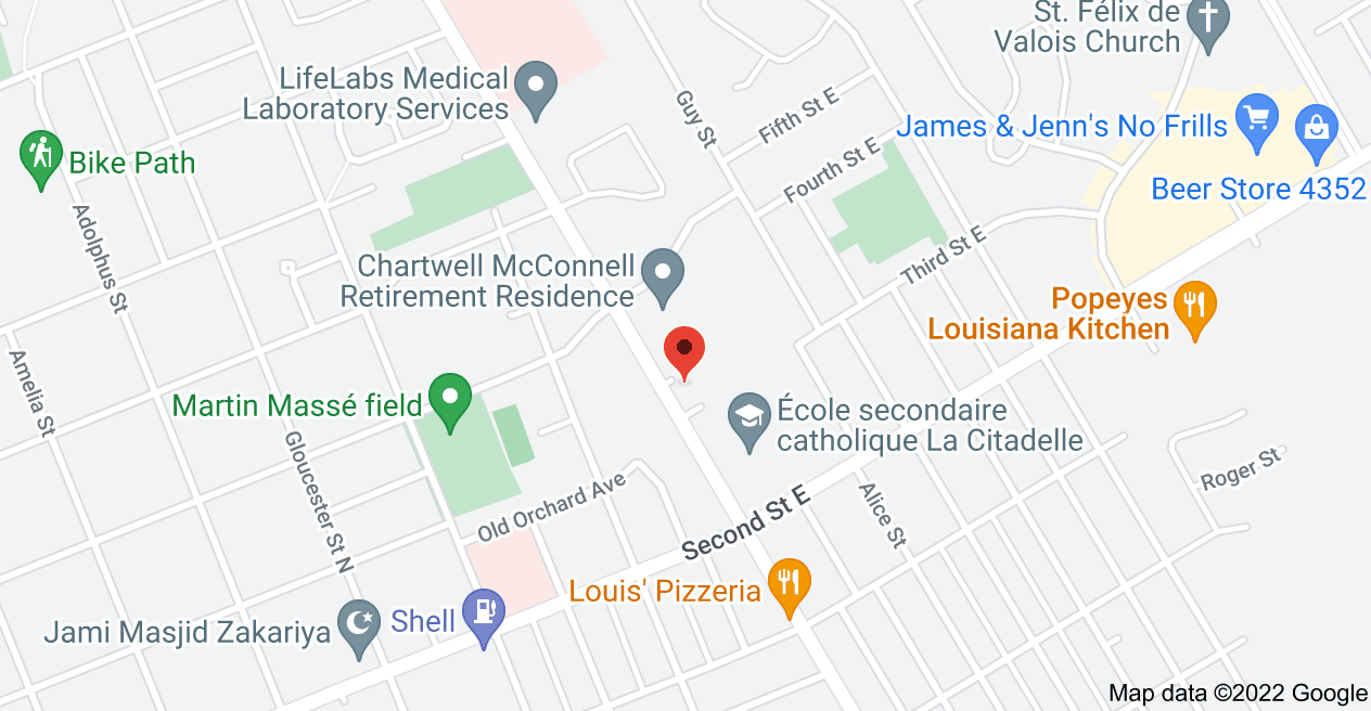 Map of 600 McConnell Ave, Cornwall, ON K6H 4M1