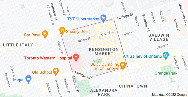 Map of Kensington Market, Toronto, ON