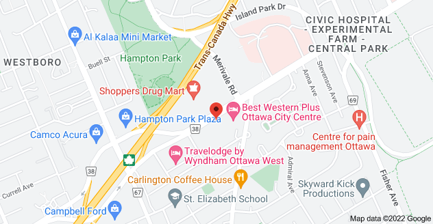 Map of 1300 Carling Ave, Ottawa, ON K1Z 7L2