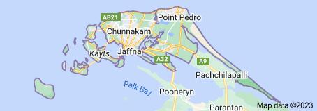 Map of Jaffna District