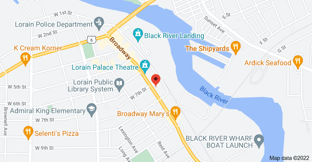 Map of 721 Broadway Ave, Lorain, OH 44052, USA