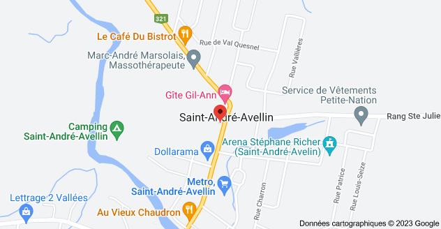 149 Rue Principale, Saint-André-Avellin, QC J0V 1W0: carte