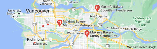 Map of maxine's bakery