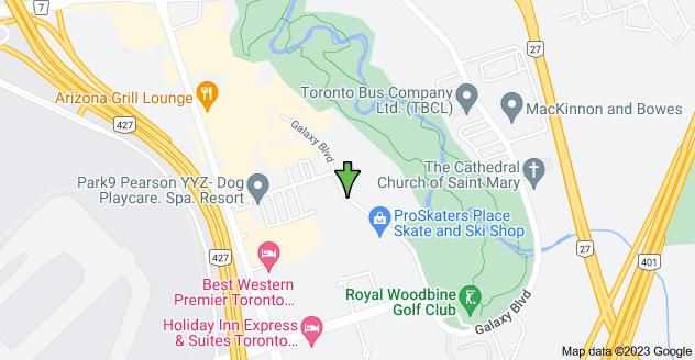 Map of 80 Galaxy Blvd, Toronto, ON M9W 5R7加拿大