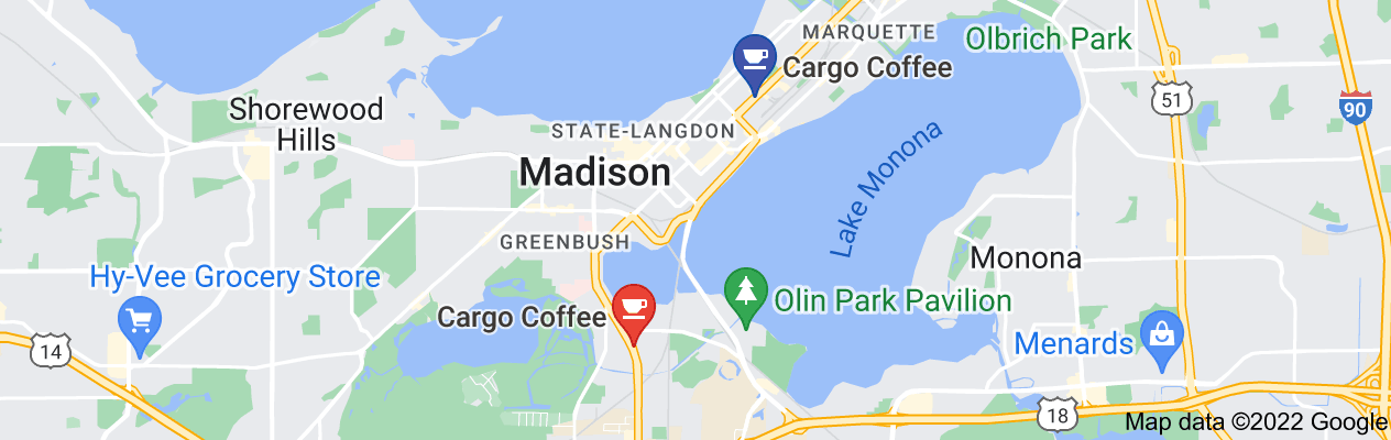Map of cargo coffee