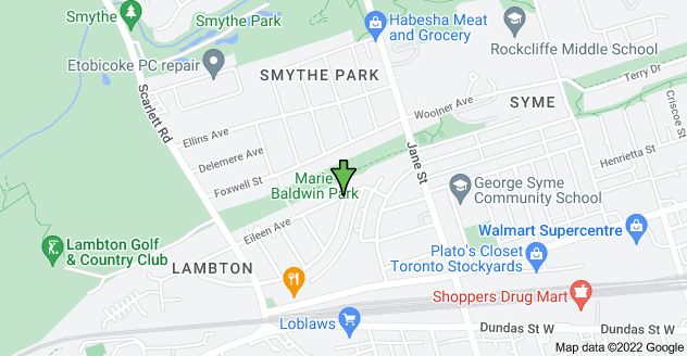 Map of Eileen Ave & Bernice Crescent, York, ON