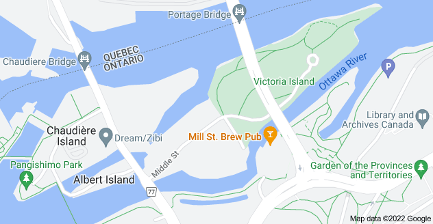 Map of Victoria Island, Ottawa, ON