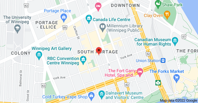 Map of 175 Hargrave St, Winnipeg, MB R3C 3R8