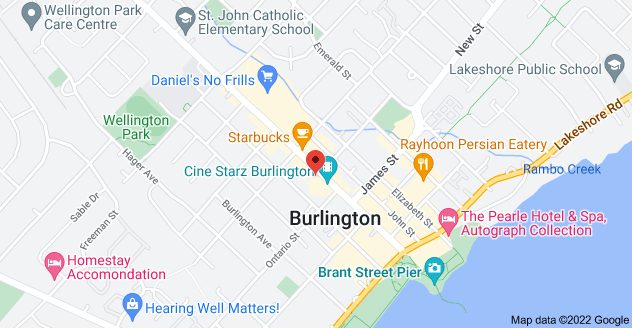 Map of 460 Brant St, Burlington, ON L7R 4B6