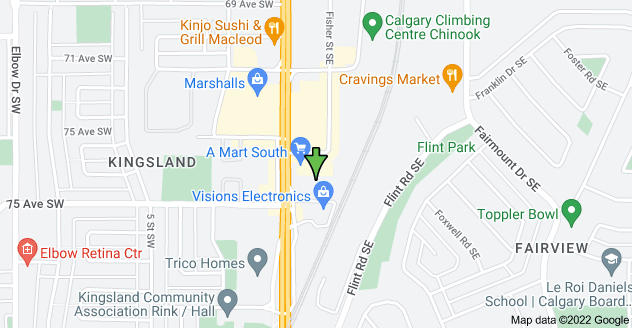 Map of 7500 Macleod Trail SE, Calgary, AB T2H 0L9