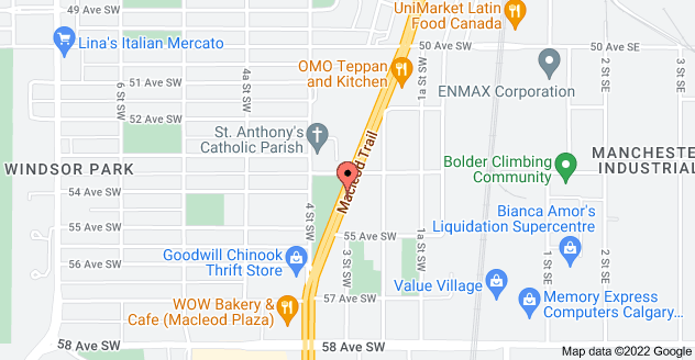 Map of 5520 Macleod Trail SW, Calgary, AB T2H 0J5