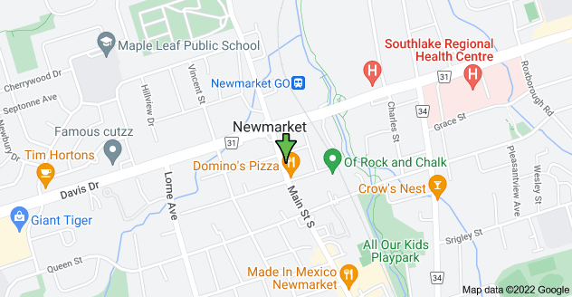 Map of 37 Main St S, Newmarket, ON L3Y 3Y3