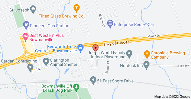 Map of 180 Lake Rd, Bowmanville, ON L1C 4P8