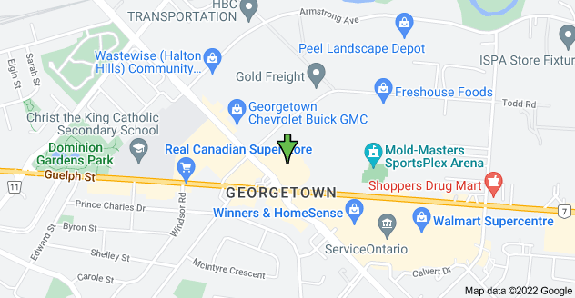 Map of 5 Mountainview Rd N, Georgetown, ON L7G 4T3