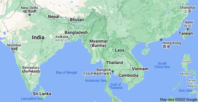 Map of Myanmar (Burma)