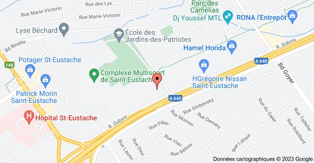 170 Rue Dubois, Saint-Eustache, QC J7P 4W9: carte