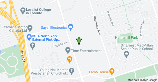 Map of 3761 Victoria Park Ave, Toronto, ON M1W 3S2, Canada